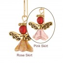 Angels of Burgundy Brilliance Earrings