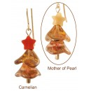 Twinkling Amber Christmas Tree Earrings