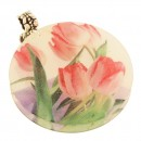 Lala Tulip Painted Shell Pendant