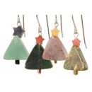 Gemstone Christmas Tree Earrings